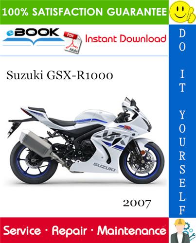 2007 Suzuki Gsx R1000 Motorcycle Service Repair Manual Suzuki Gsxr1000 Suzuki Gsx Gsx