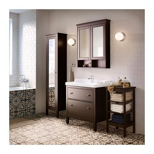 Best Ikea Hemnes Black Brown Stain Sink Cabinet With 2 Drawers 400 x 300