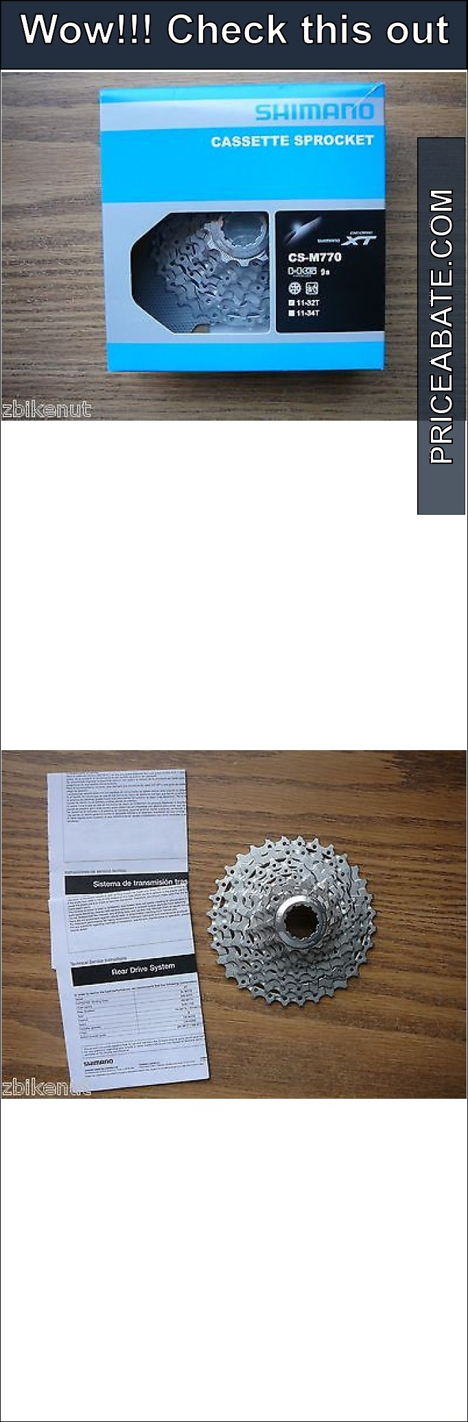 bicycle-parts: Shimano Deore XT CS-M770 Mountain Bike Cassette 11-32 Tooth 9 Speed New MTB #Bicycle - Shimano Deore XT CS-M770 Mountain Bike Cassette 11-32 Tooth 9 Speed New MTB...