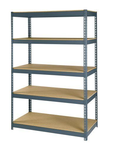 Maxi Rack Mr 245 48 Inch Wide By 24 Inch Deep By 72 Inch High Five Shelf Heavy Duty Shelving Unit Grey Garden Tool Storage Steel Shelving Steel Shelving Unit