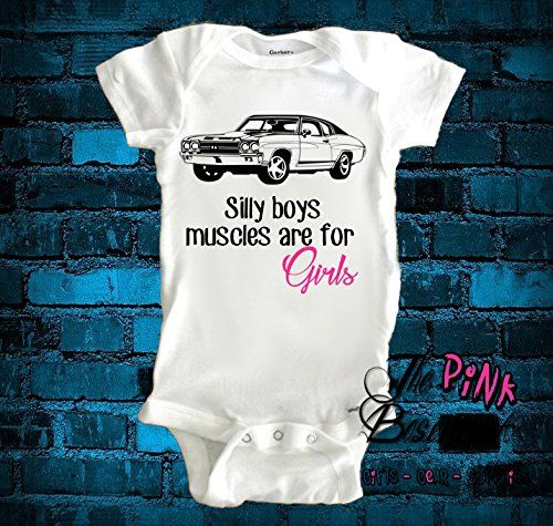 Handmade Girl Muscle Car Dad Daddy Papa Grandpa Uncle Baby Clothes