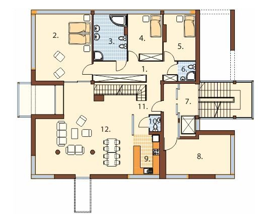 Plano de edificio de 4 pisos con departamento hola for Departamentos arquitectura moderna