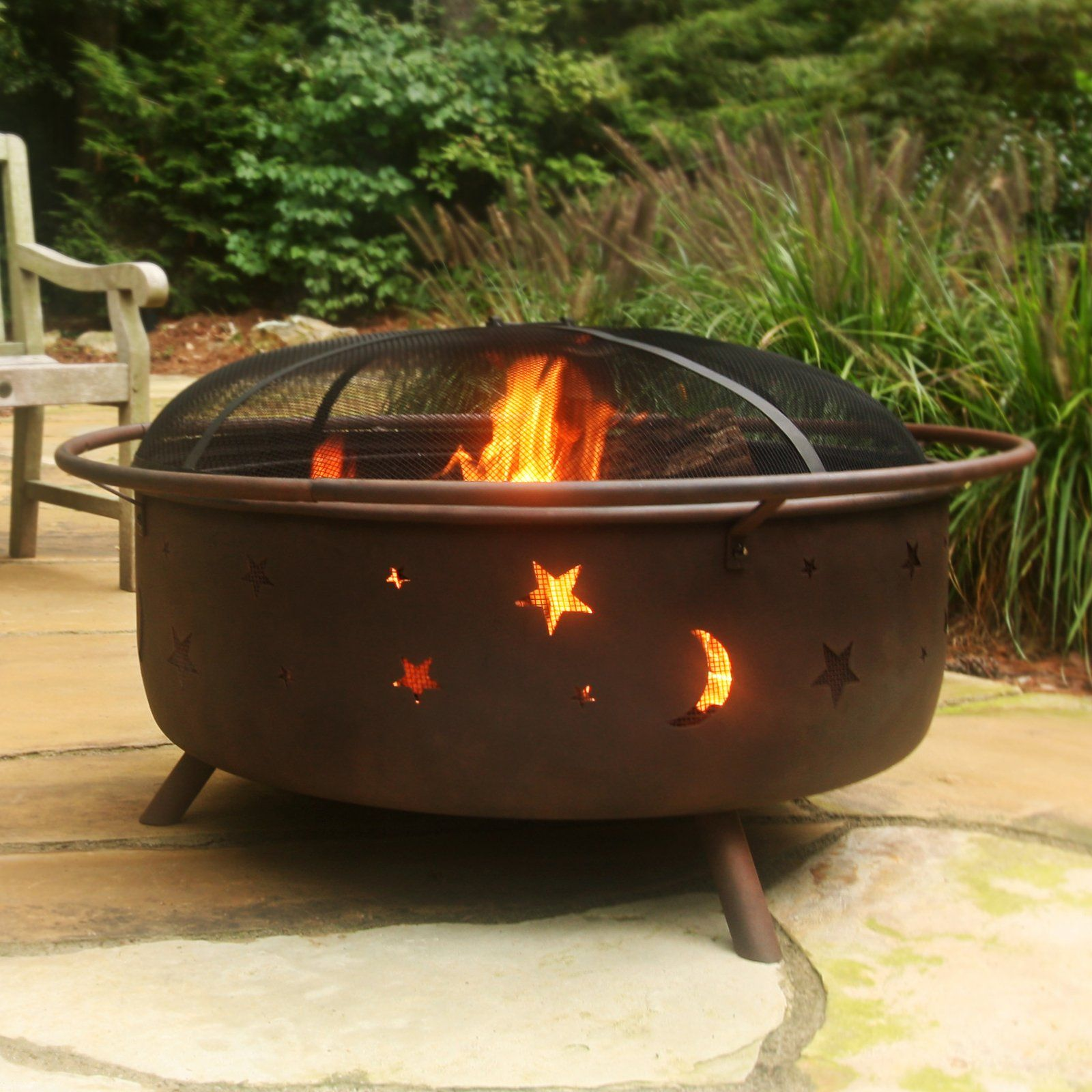 Have To Have It Red Ember Cortez Extra Large 34 In Rustic Patina Fire Pit 209 98 Hayneedle Com Garden Fire Pit Fire Pit Backyard Fire Pit Grill