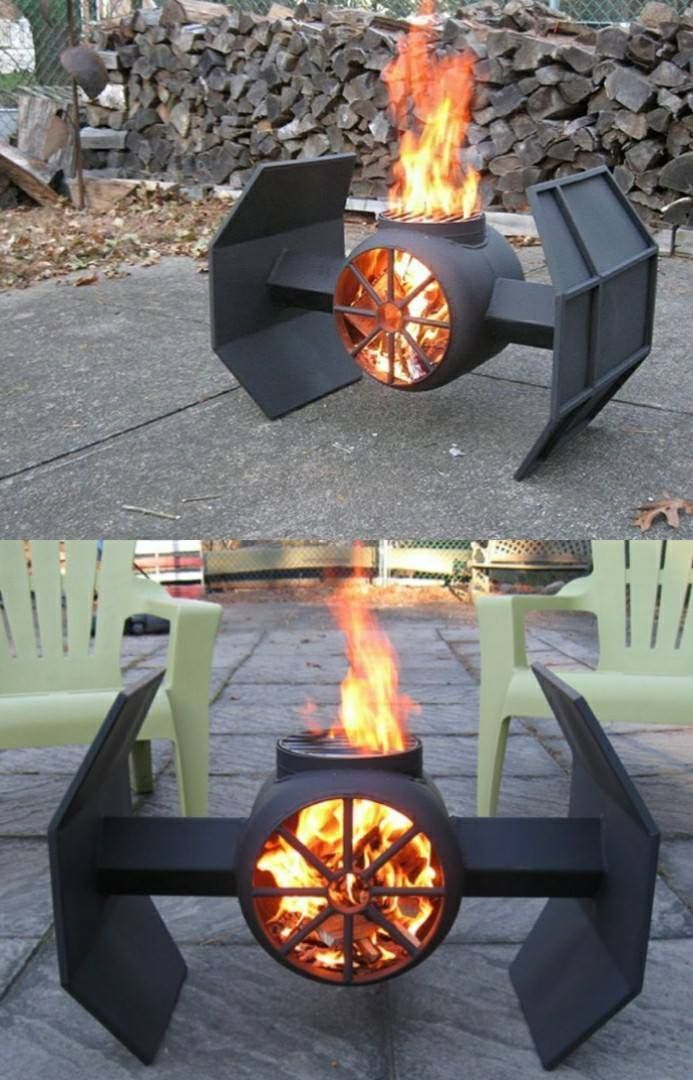 Tie Fighter Fireplace From Star Wars Outdoor Projects In
