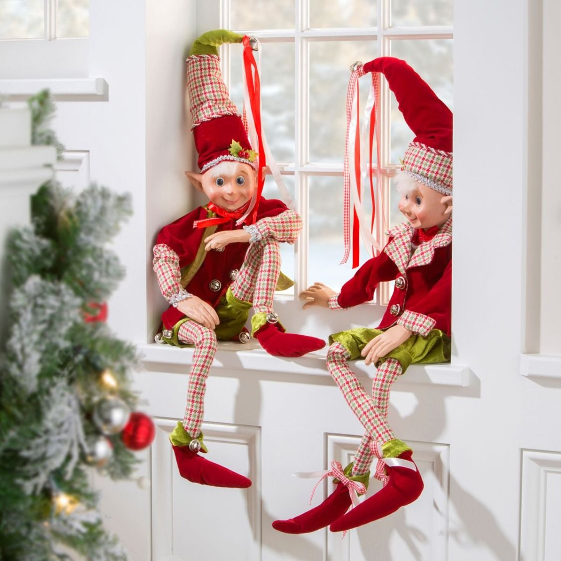 Cute And Cheerful Elves Will Brighten Just About Anyone S Day And These Unique Christmas Dec Indoor Christmas Decorations Holiday Decor Christmas Holiday Decor