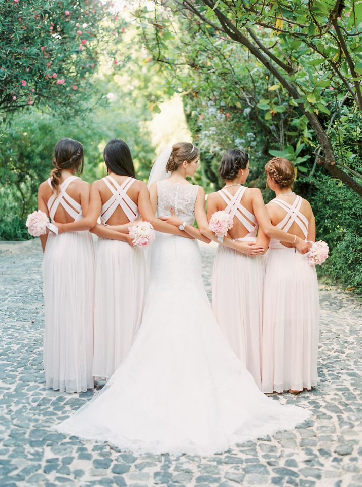 Bride And Her Bridesmaids Love Is My Favourite Color Wedding