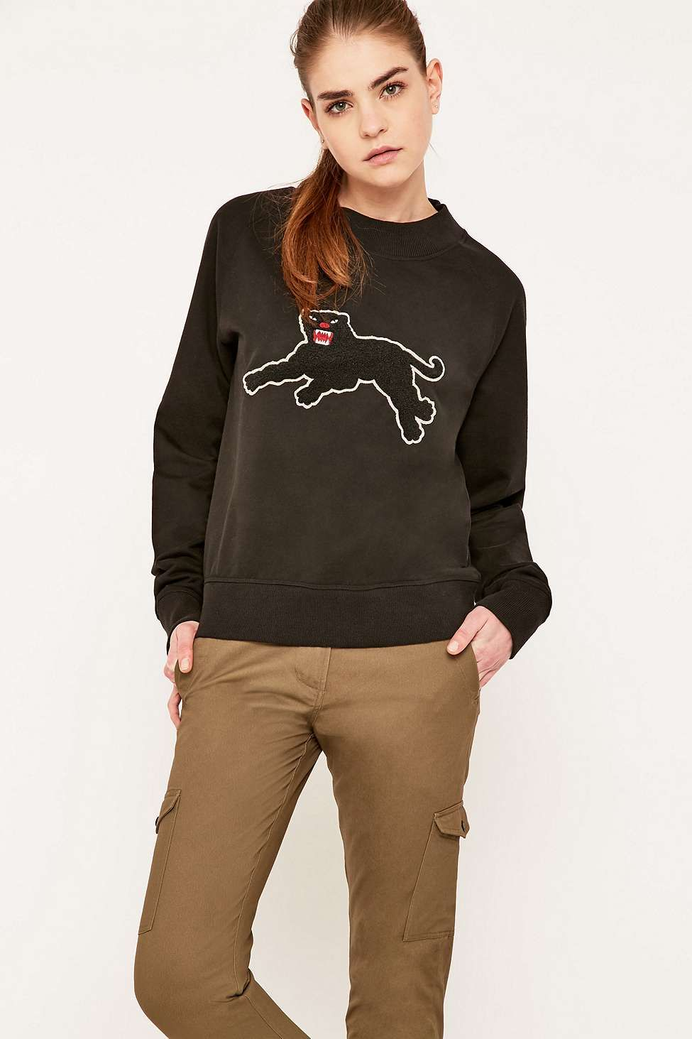 09dba201f Shop Maharishi Panther Black Crew Neck Sweatshirt at Urban Outfitters  today. Find this Pin and more on Sweaters   knitwear ...