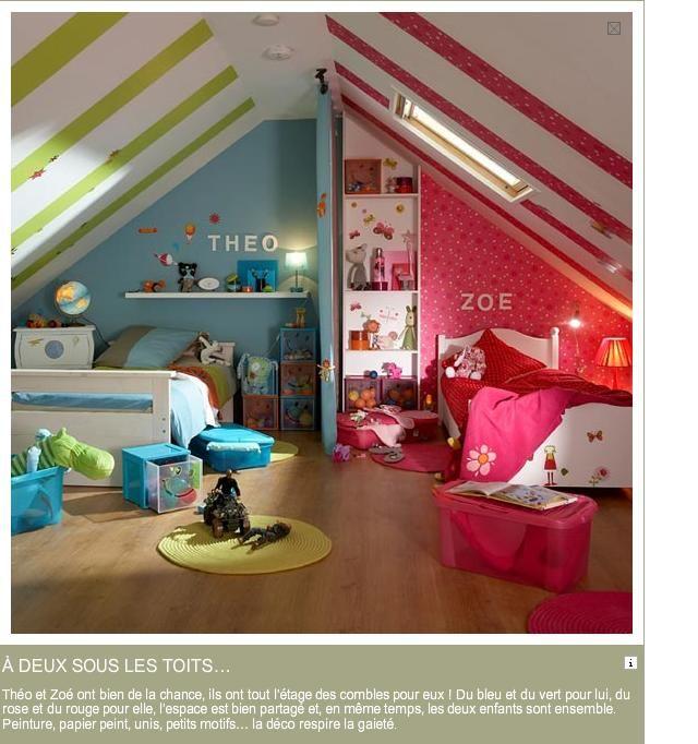 chambre d\'enfant deux enfants - Recherche Google | DÉCO CHAMBRE ...