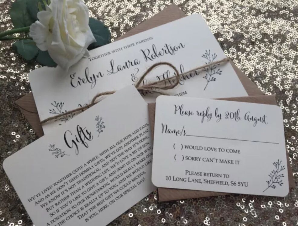 Evelyn rustic wedding invitations from www.thevowsheffield.com | The ...
