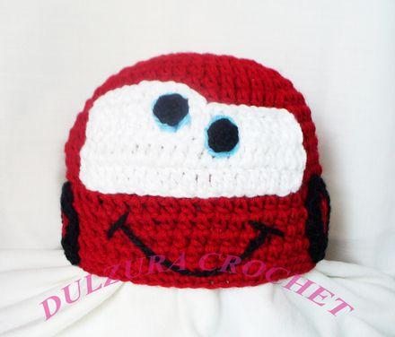 Gorro cars crochet  814d87223ec