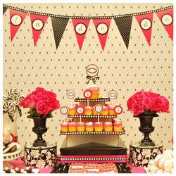 pink and black party ideas, bachelorette party ideas, bridal shower party, girly party, http://www.frostedevents.com, DC MD VA party planners