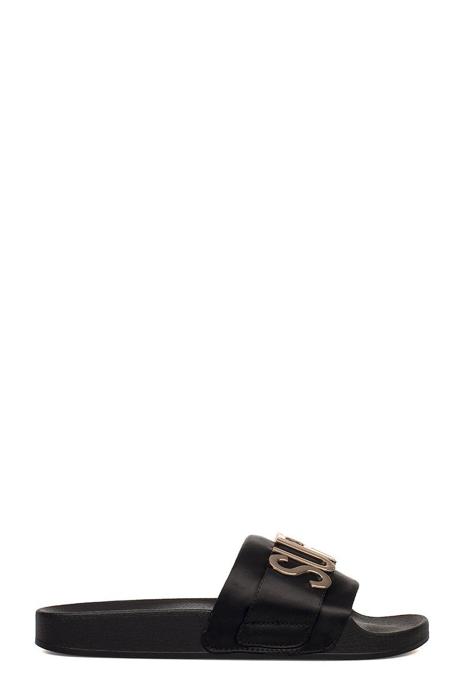 64adcfb4129 STEVE MADDEN BLACK WORD SANDAL.  stevemadden  shoes