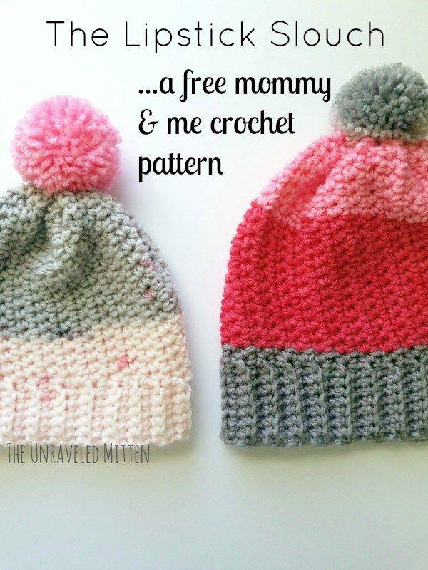 Lipstick Slouchy Hat Free Crochet Pattern | Gorros y Patrones