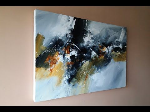 Abstract Painting / EASY abstract painting using brush and