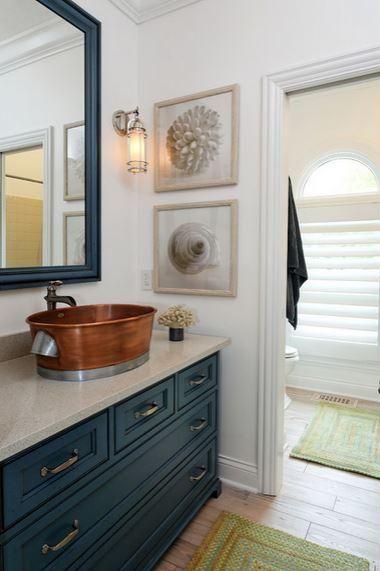 Bathroom Vanities Colorful Bathroom Vanities Dark Blue Vanity Jeff Sheats Designs Via Houzz With Wh Coastal Bathroom Design Bathroom Design Nautical Bathrooms