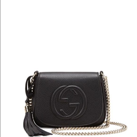 gucci bags soho. gucci soho leather flap bag black bag. new with tags. bags