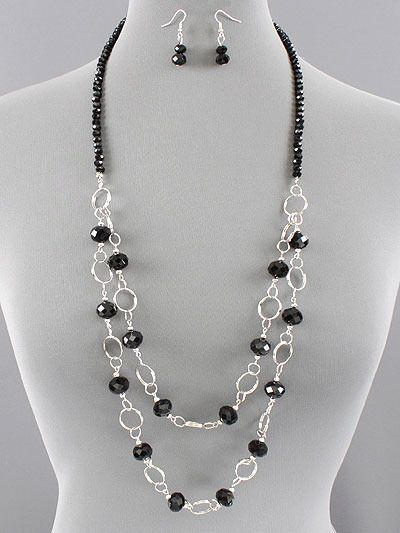 double strand beaded necklace patterns | Jewelry Trinket Designs ...
