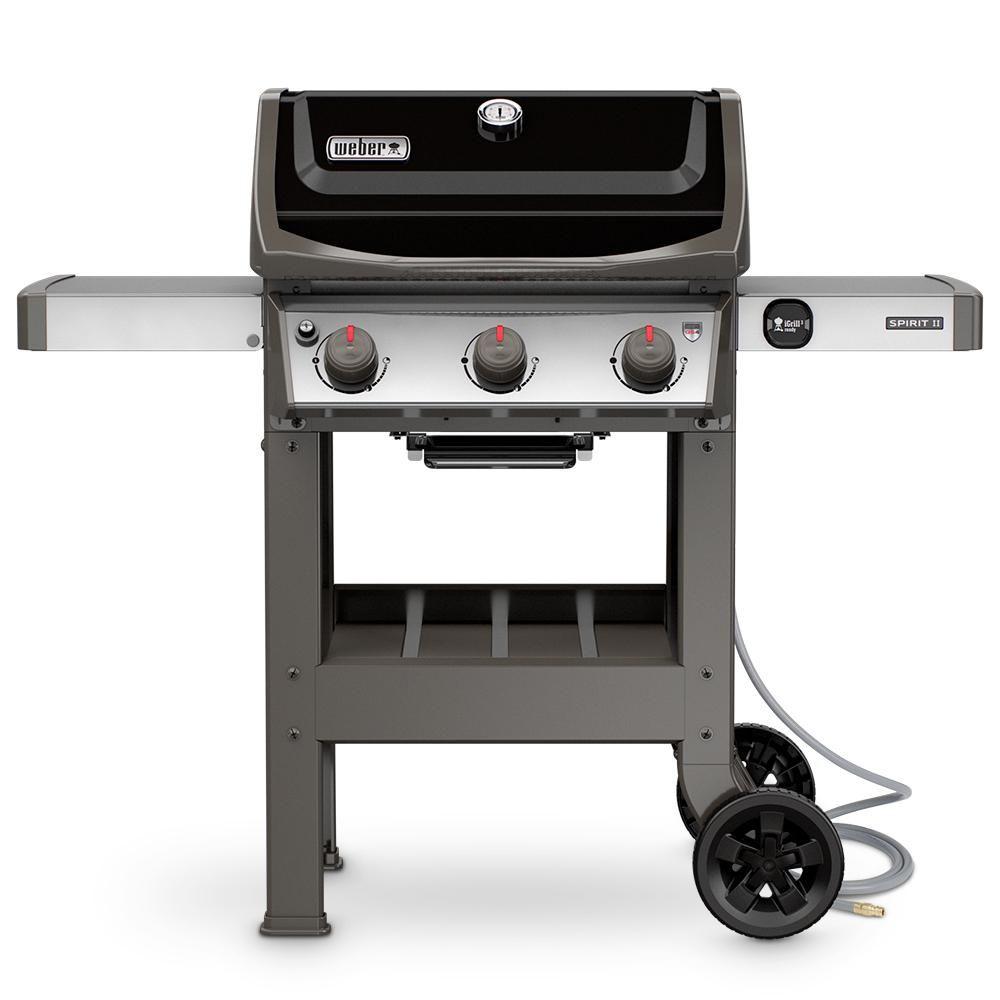 Weber Spirit Ii E 310 3 Burner Natural Gas Grill In Black 49010001 Best Gas Grills Propane Gas Grill Gas Bbq