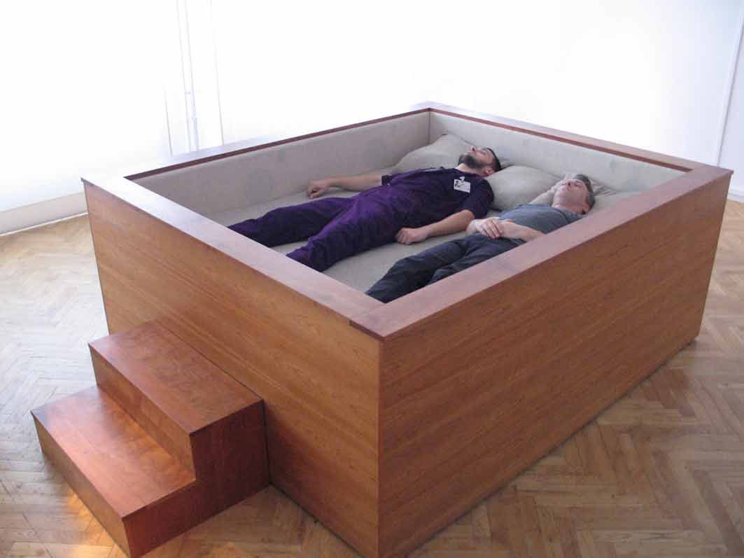 Sonic Bed by Kaffe Matthews with surround sound speakers... Amazinggg!