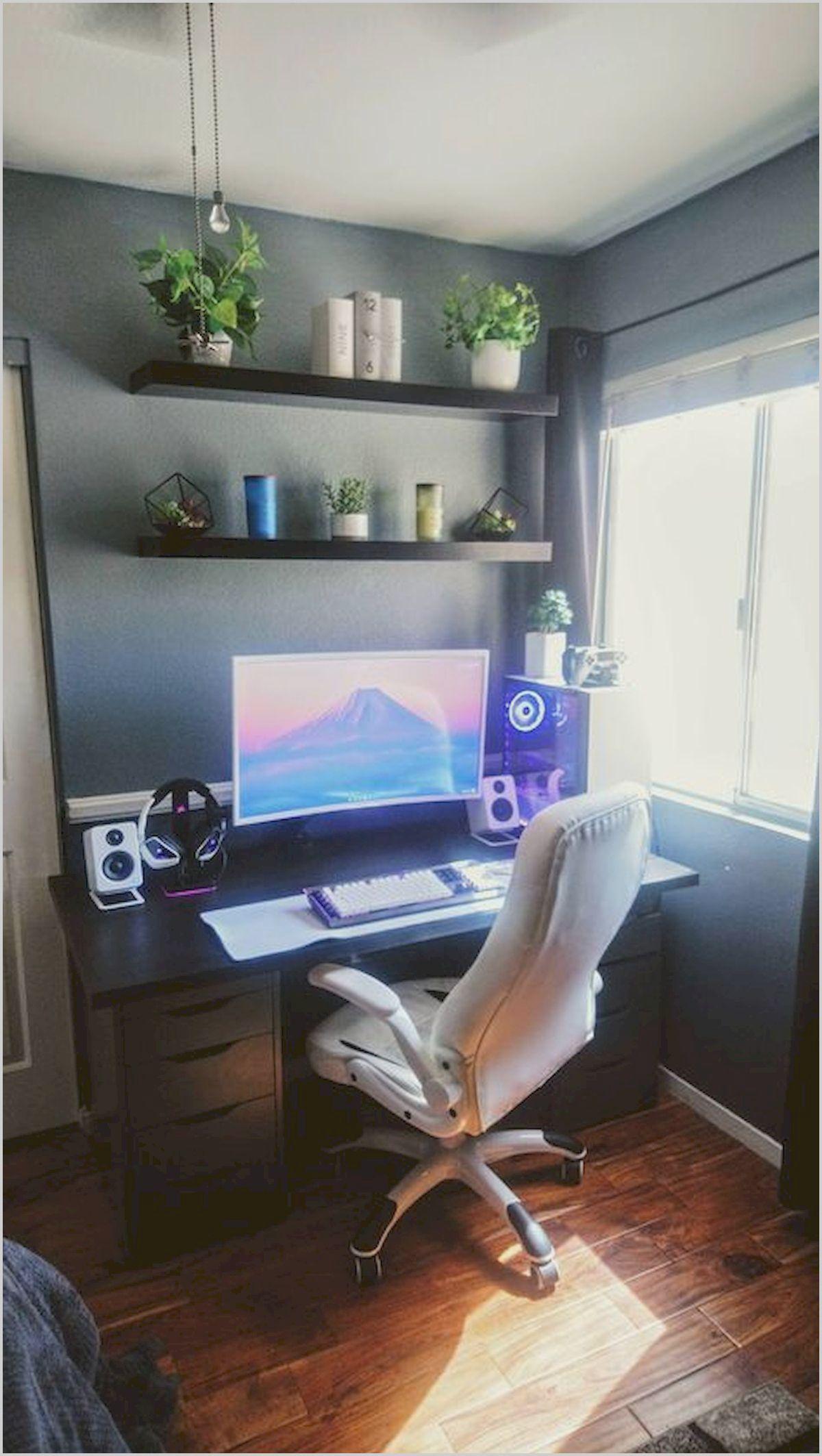 Computer Living Room Ideas Bedroom Setup Room Setup Game Room Design