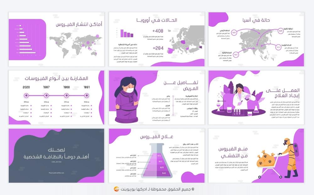 فيروس تصميم بوربوينت جاهز لعمل برزنتيشن عن الفيروسات ادركها بوربوينت Alphabet Worksheets Preschool Learn Arabic Alphabet Powerpoint Design