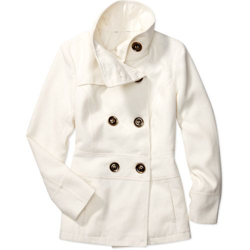 plus size coats for women | George - Women\u0027s Plus Funnel-Neck Pea Coat: : Walmart.com