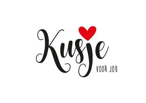 Valentijnskaart Kusje voor jou | Kaartje2go #knuffelvoorjou