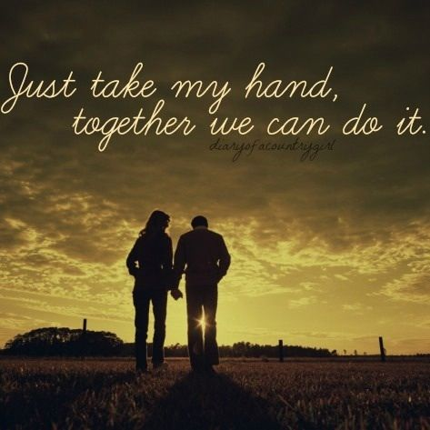 Just take my hand...