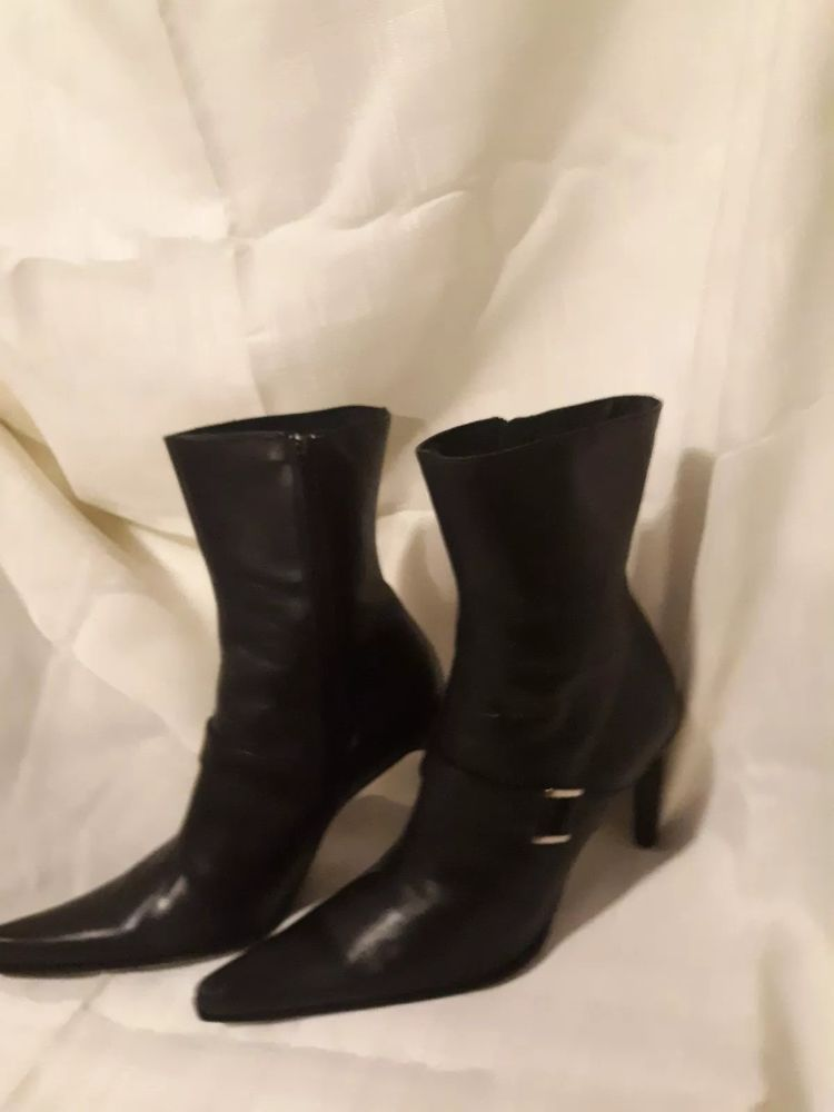 5643fe97e9c3 Guess Marciano Leather High Heel Square Toe Mid Calf Boots Women s size 9   fashion