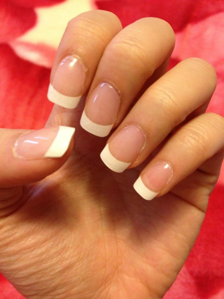 Image result for acrylics nails french tip | Nail art | Pinterest ...