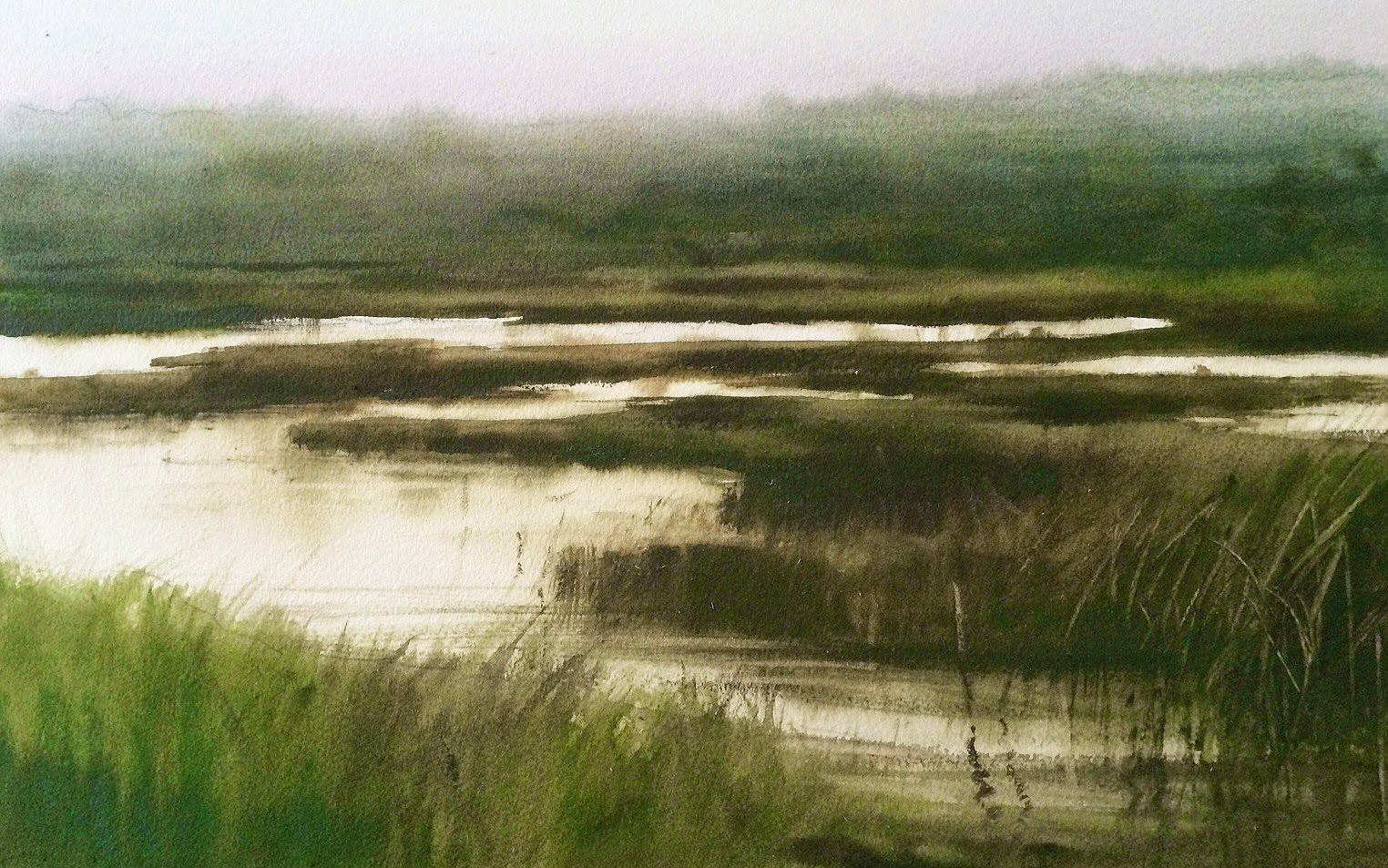 "Francisco Castro: "" Marisma I ""watercolour//acuarela #watercolor jd"
