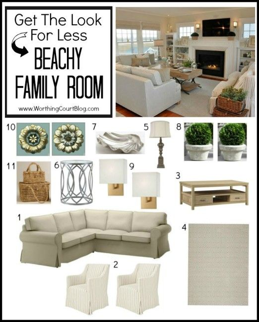 beachy family room get the look on a budget pinterest
