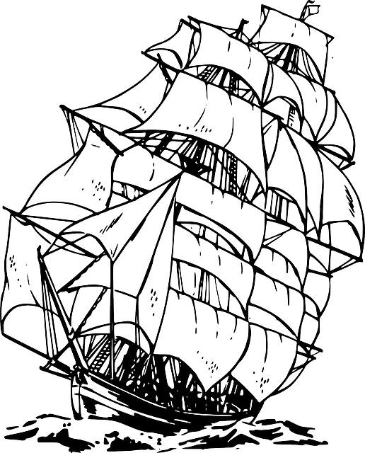 Free Image On Pixabay Sailing Ship Ocean Sea Water Coloring Pages Ship Drawing Coloring Pages For Kids