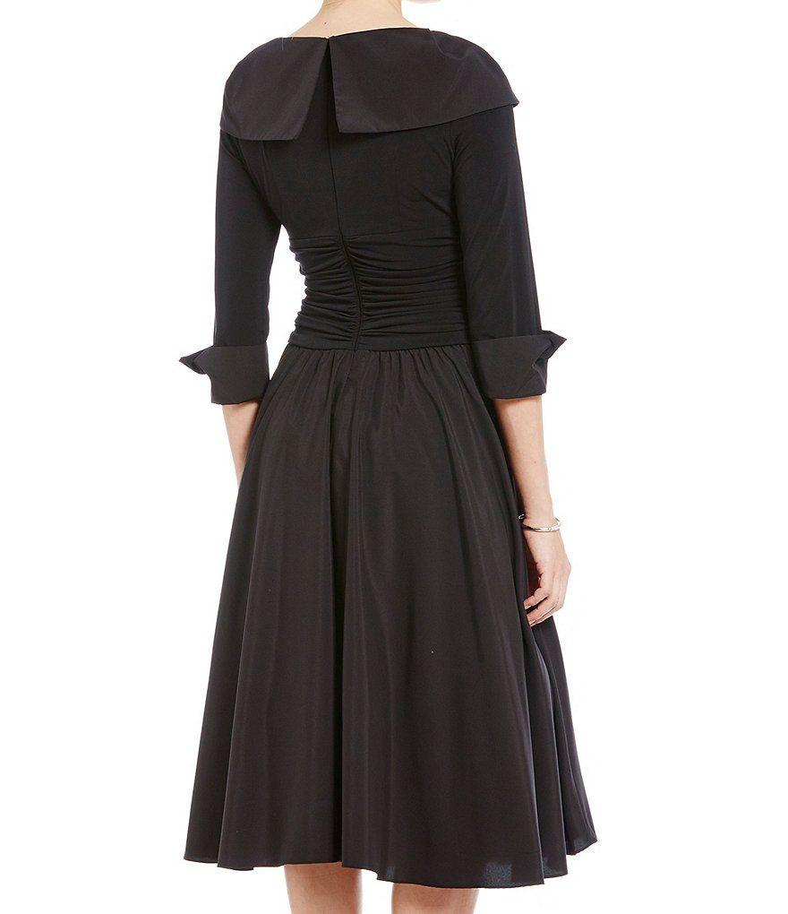 554a3d5dee0d Jessica Howard Portrait Collar Midi Dress Portrait
