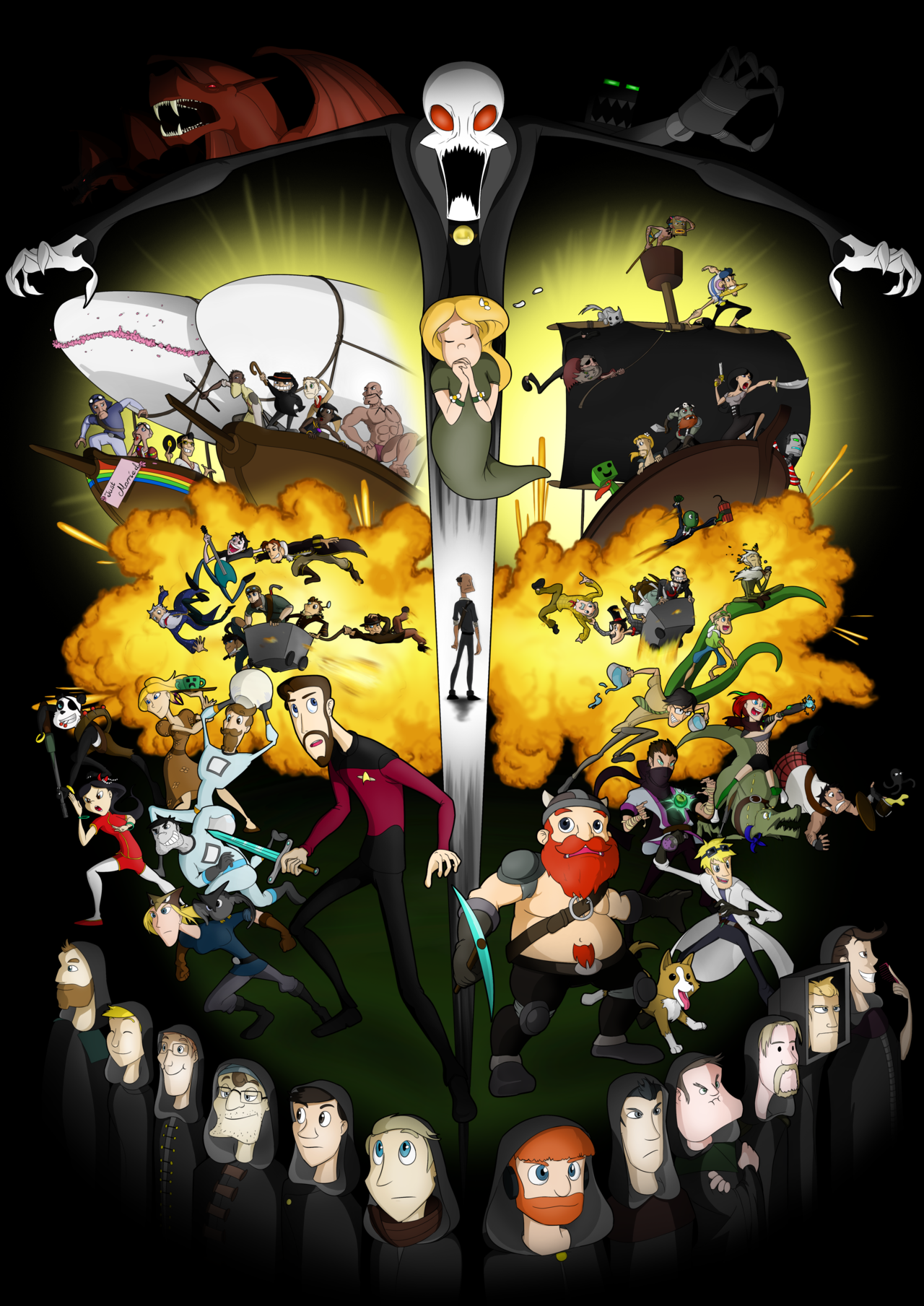 Shadow Of Israphel Lost Hope And The Twelve By Flying Pen Deviantart Com On Deviantart Anime Version Yogscast Shadow