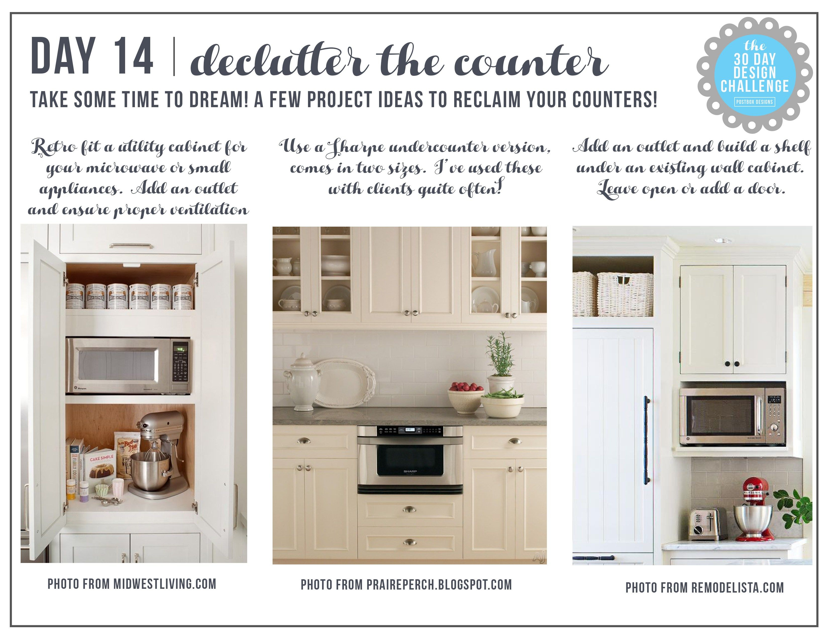 30 Day Design Challenge Day 14 How To Hide Your Microwave New Kitchen Design Website Inspiration Design