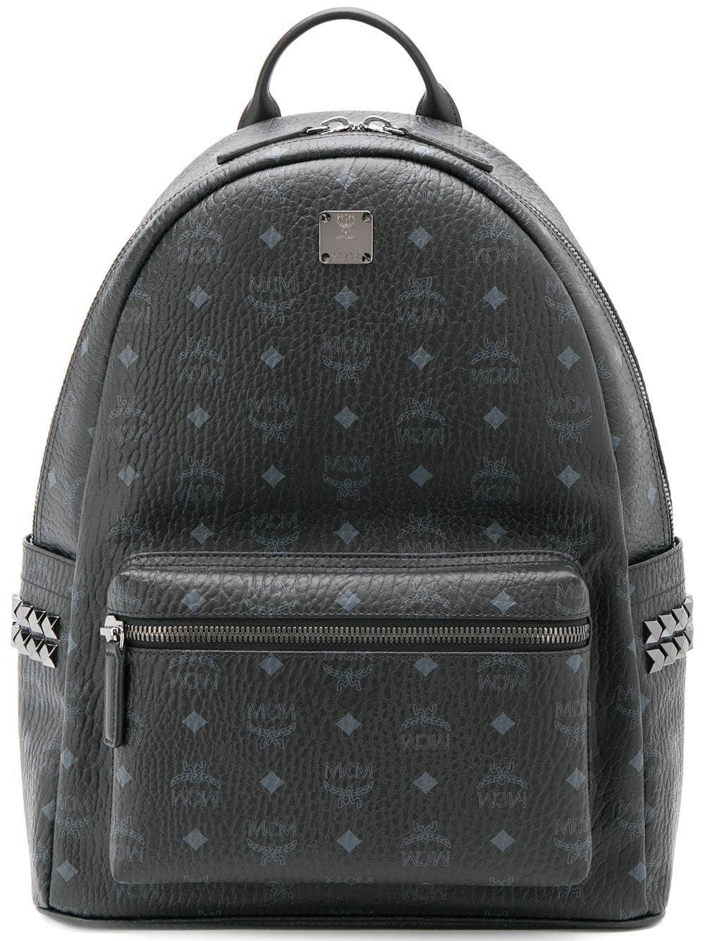 MCM logo print backpack Black | Black backpack, Mcm, Mcm bags