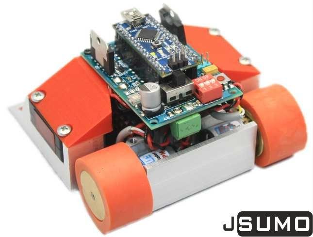 Mini sumo robot kit full back g robots