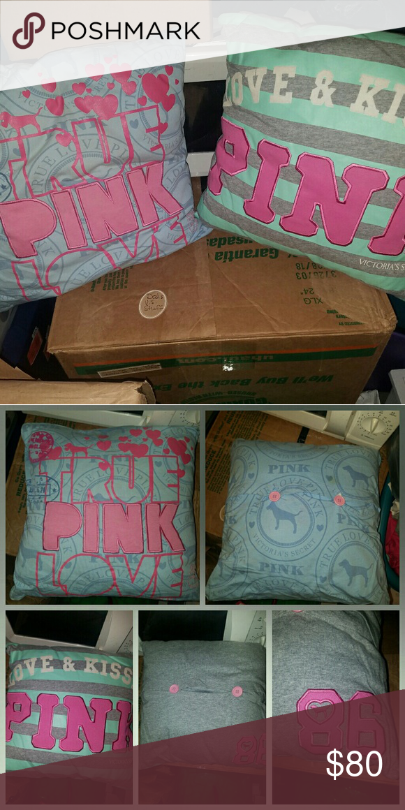 Vs Pink Pillows Rare 2 Victoria S Secret Throw Pillow Good Condition No Stains Or Holes Super Cute Can Do Er Elsewhere Other