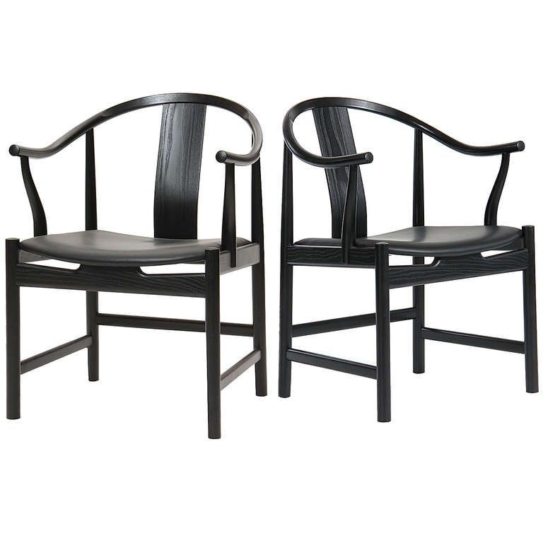 Black Lacquered Chinese Chair by Hans J. Wegner | Muebles chinos ...