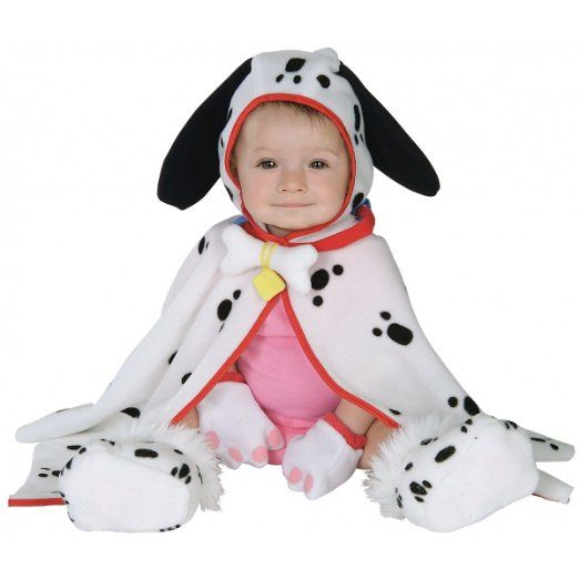 Infant Baby Dalmation Puppy Dog Costume Cape (3-12 - halloween costume ideas for infants