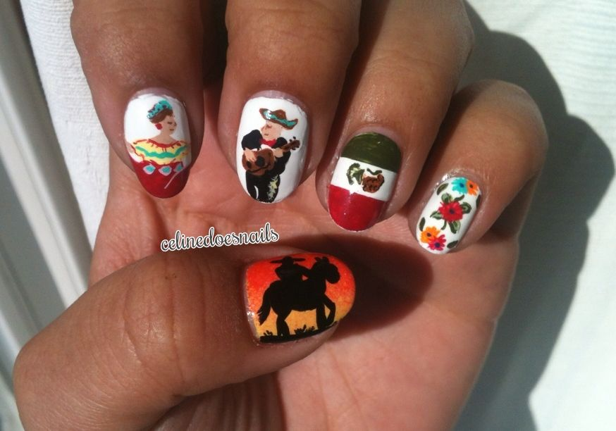 Mexican Nails | Nails | Pinterest | 15 de septiembre mexico, Uñas ...