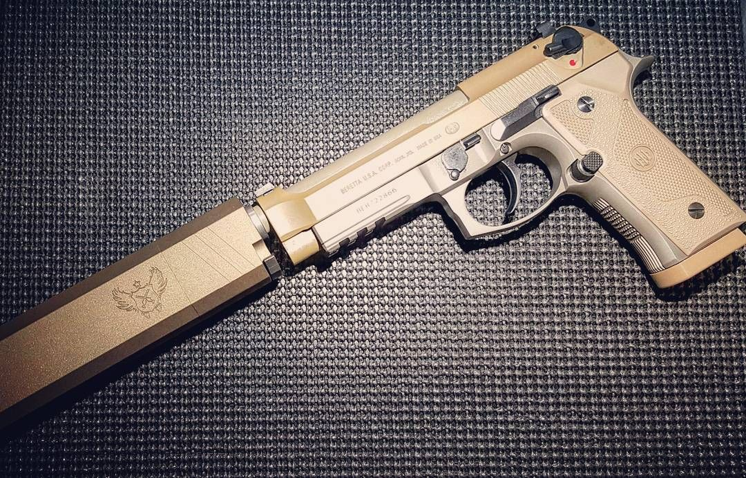 """Beretta M9A3 with @silencerco Osprey. #gunsofinstagram #gunsdaily #weaponsdaily…Loading that magazine is a pain! Get your Magazine speedloader today! http://www.amazon.com/shops/raeind"