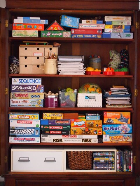 Board Game Storage In A 5x5 Ikea Expedit Shelving With Some Of The
