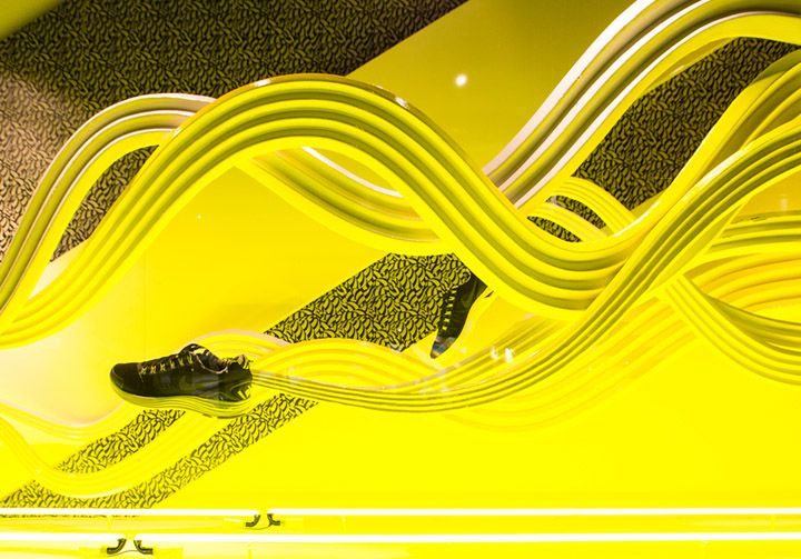 Nike x Liberty windows by Hotel Creative, London visual merchandising