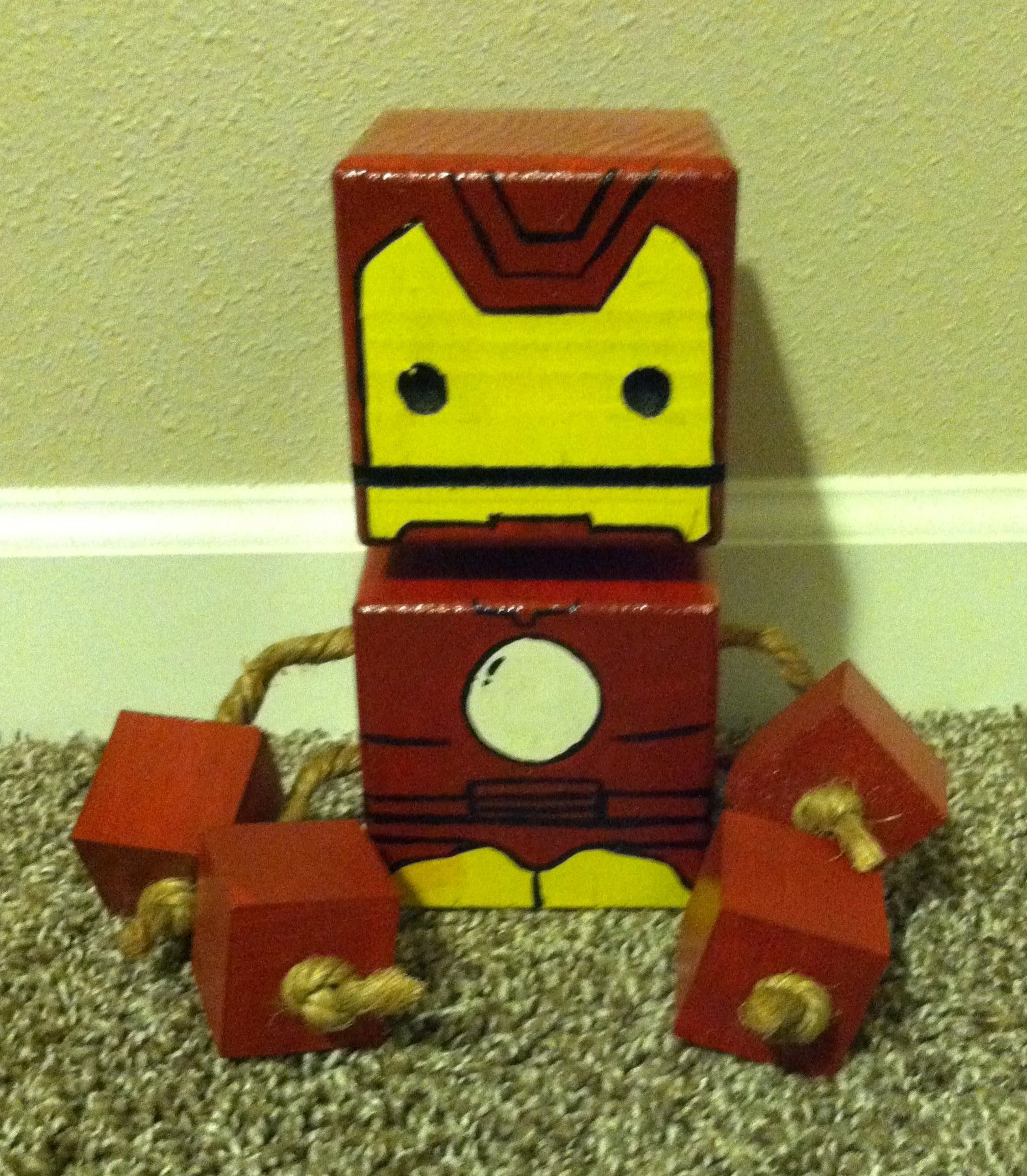 wood block iron man | projects | woodworking bench