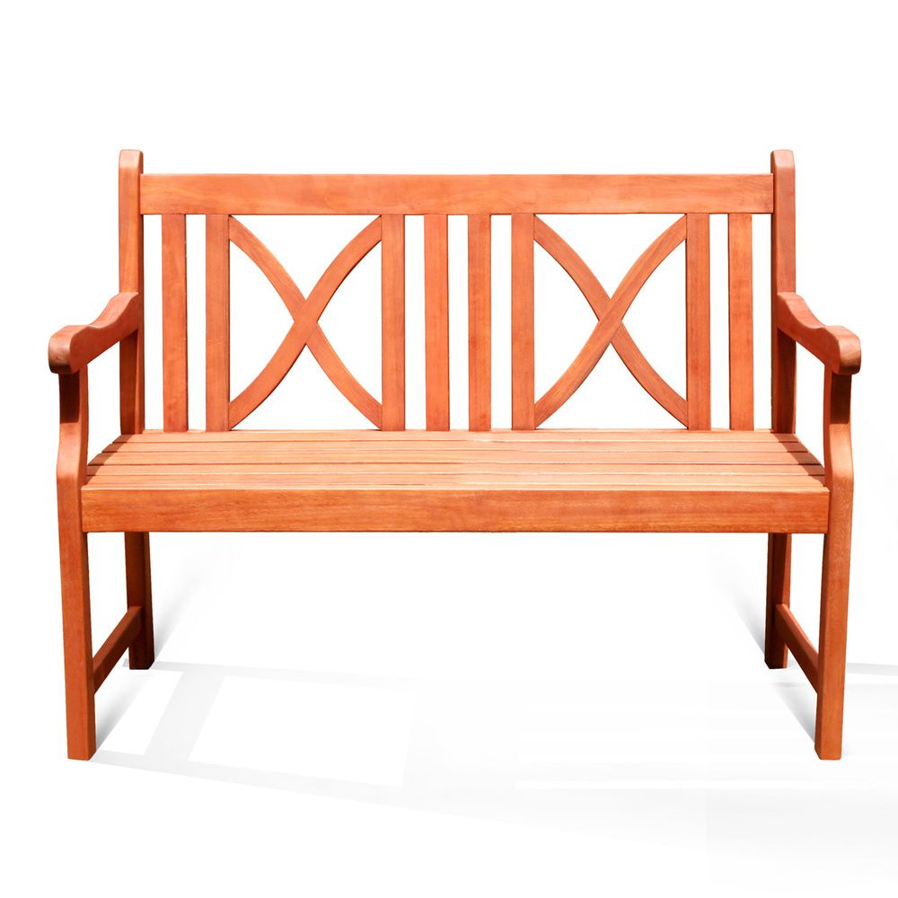 Softcross 2 Seater Eucalyptus Wood Outdoor Bench Overstock Com