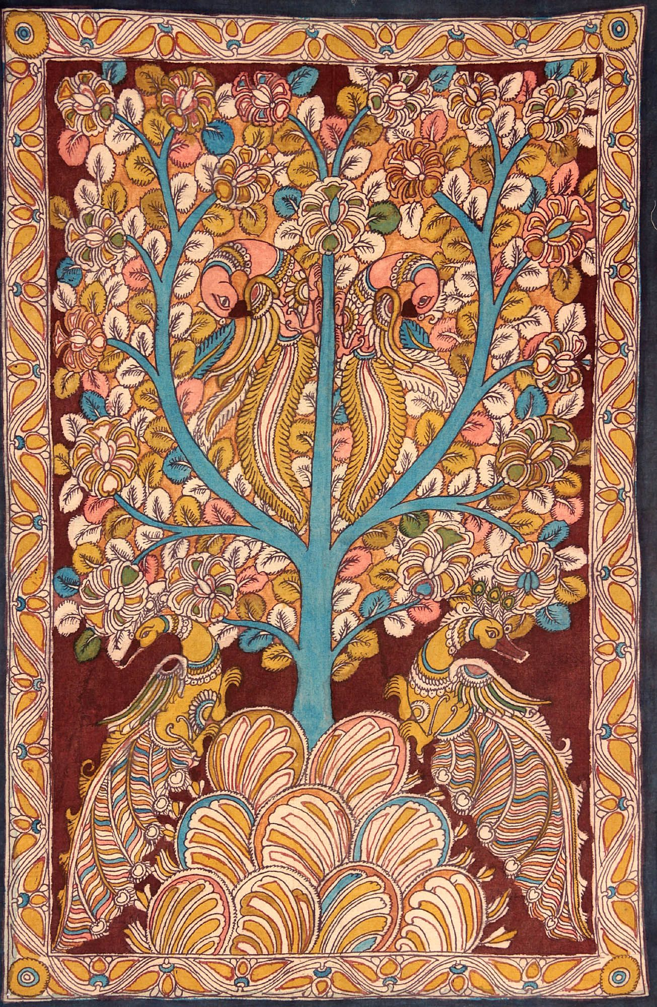 Tree of Life Folk Art Painting