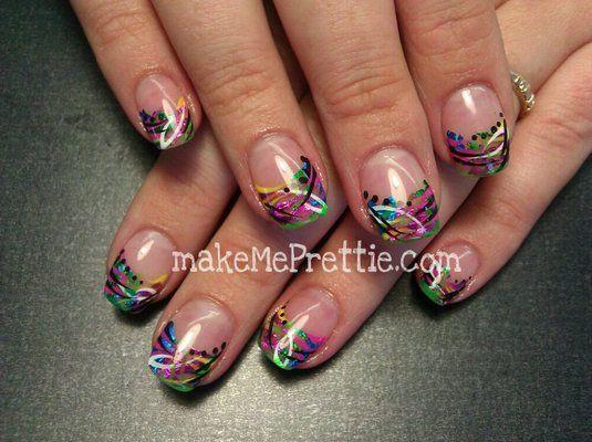 Nails acrylics and custom nail art designs. Wild Nail designs, cute - By Tina! Nails Acrylics And Custom Nail Art Designs. Wild Nail