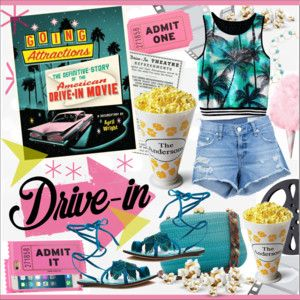 Drive In Movie Turquoise Outfit Turquoise Clothes Drive In Movie Movies Outfit
